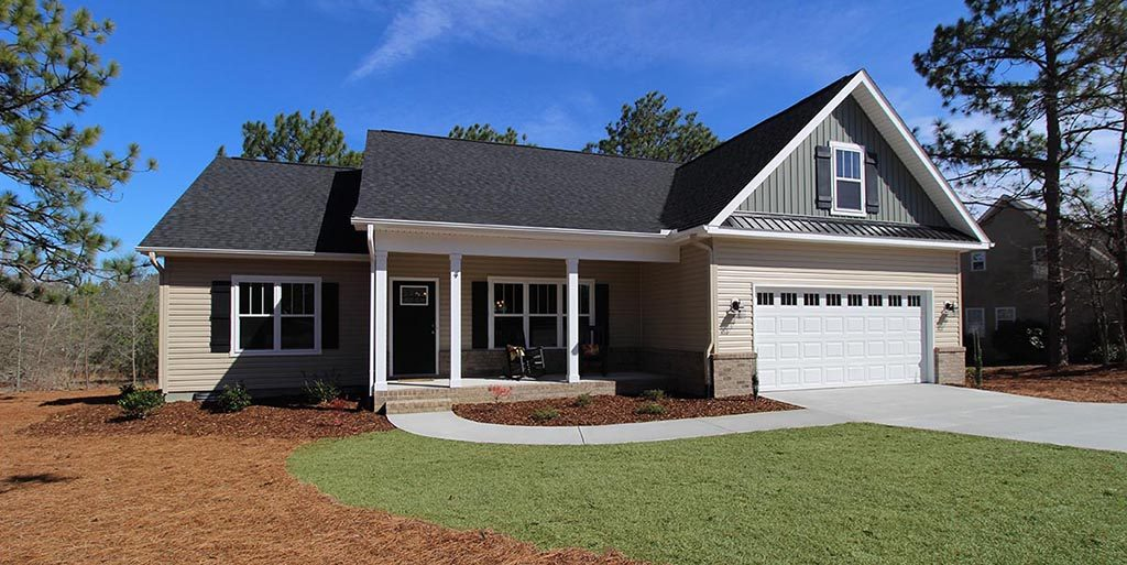 Landscape Installation New Home Construction, Pinehurst NC