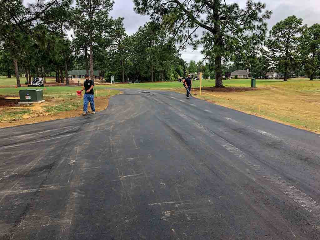 Completed Road, Pinehurst NC Prepped by Brooks Hauling, Grading & Landscaping, LLC