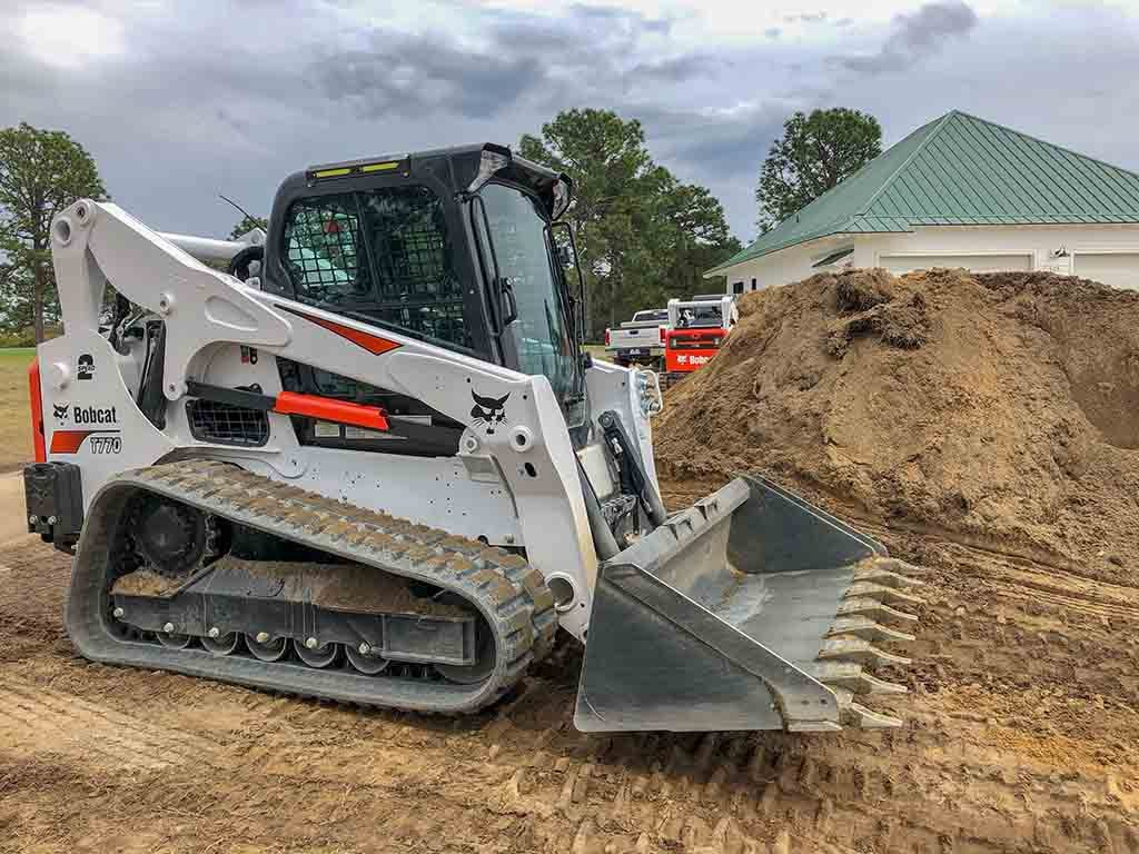 Frontend Track Loader, Brooks Hauling, Grading & Landscaping Equipment