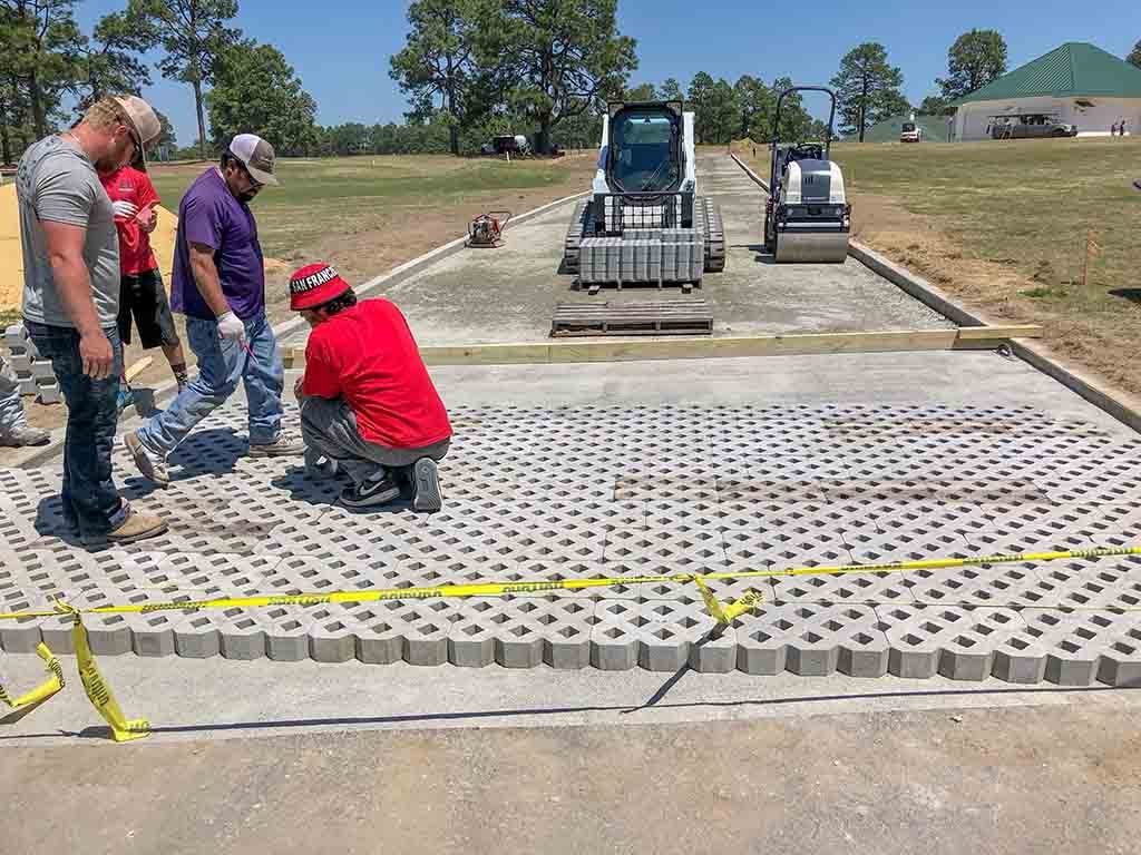 Paver Installation for Emergency Access Road, Pinehurst NC