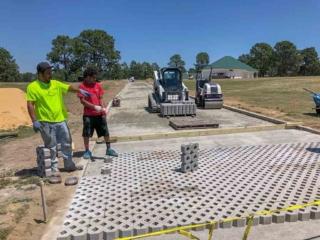 Concrete Paver Installation For Golf Course Road, Pinehurst NC