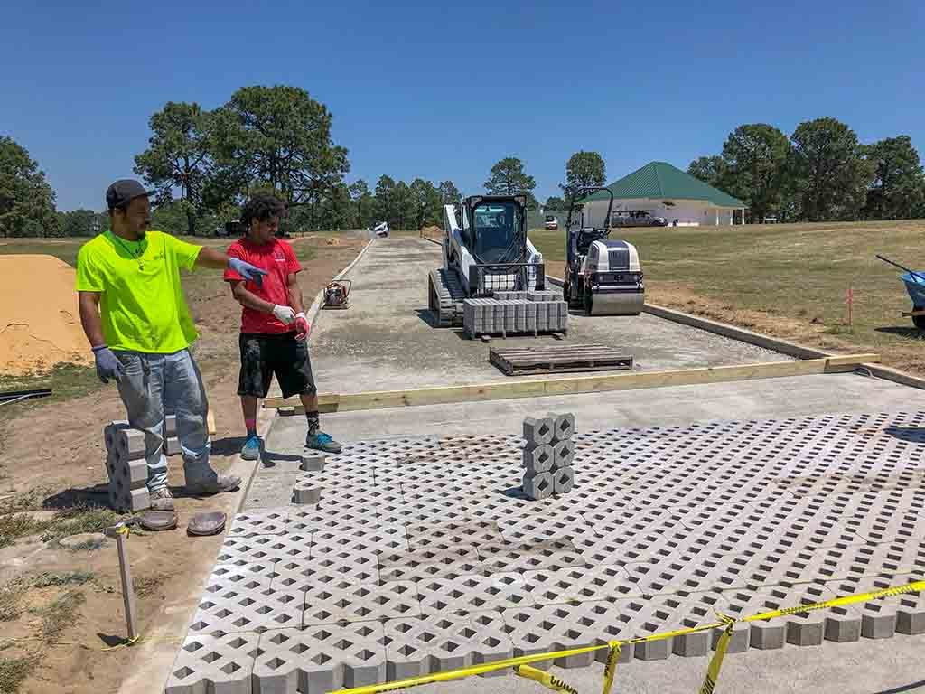Concrete Paver Installation For Golf Course Road, Pinehurst NC