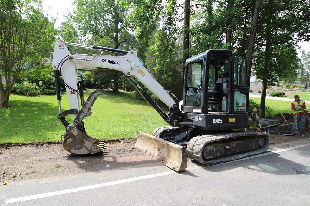 Excavator, Drainage System Installation in Pinehurst NC