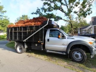 Dump Truck Hauling Pine Straw, Pinehurst NC