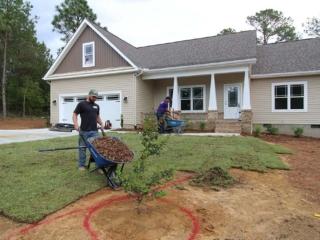 Residential Landscape Installation by Brooks Hauling, Grading & Landscaping LLC, Pinehurst NC