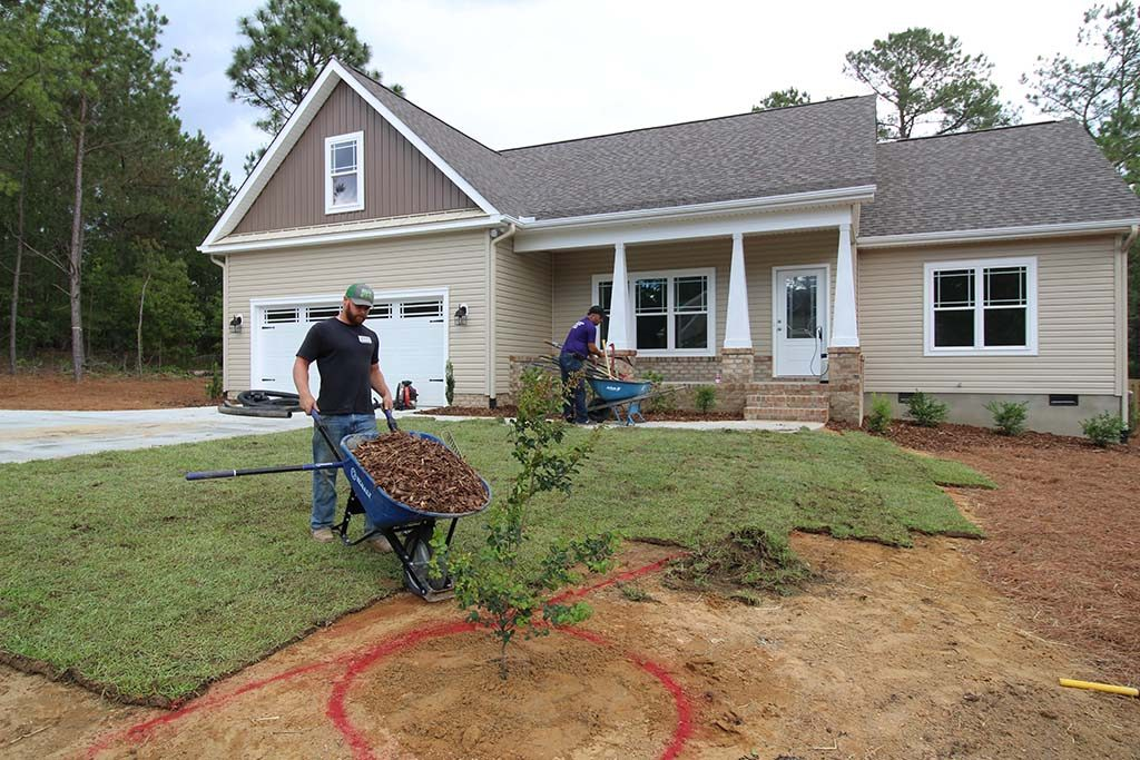 Residential Landscape Installation by Brooks Hauling, Grading & Landscaping LLC, Pinehurst NC