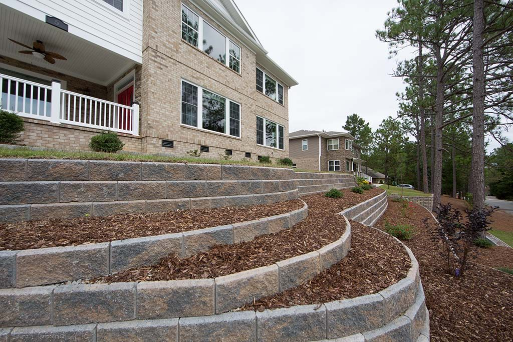 Custom Retaining Walls & Hardscaping, Pinehurst NC
