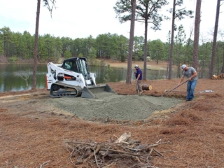 Hardscaping Features, Fire Patio Grading & Installation