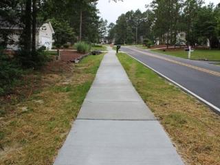 Completed Sidewalk in Pinehurst NC