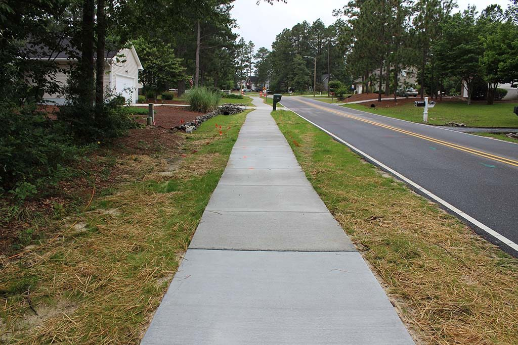Completed Sidewalk in Pinehurst NC