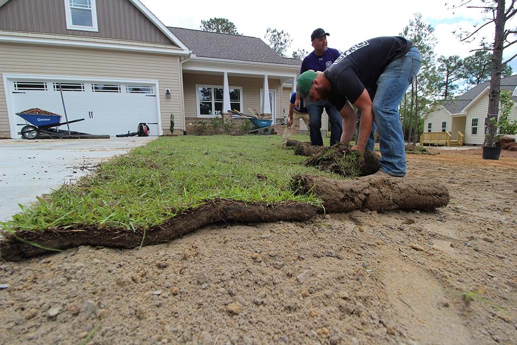 Sod Installation For New Home Construction in Moore County NC