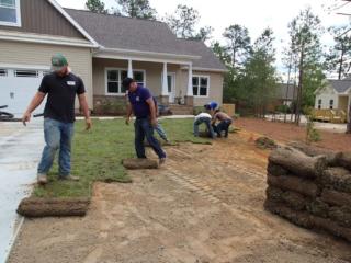 Brooks Hauling, Grading & Landscaping LLC Installing Sod in Pinehurst NC