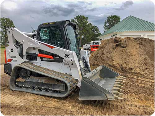 Land Grading with Track Loader
